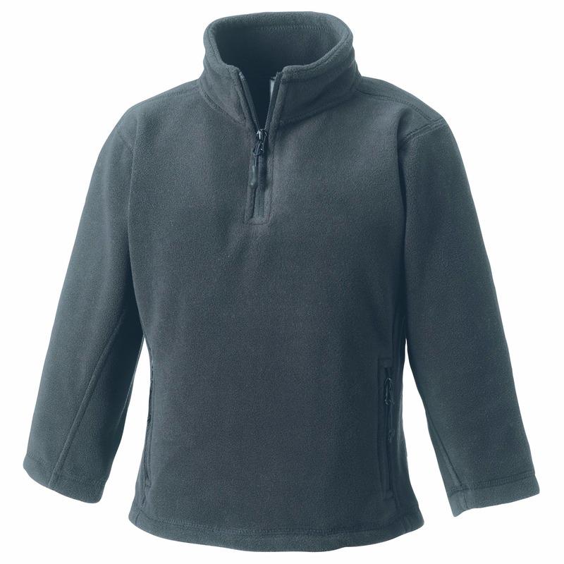 Grijze fleece trui voor jongens