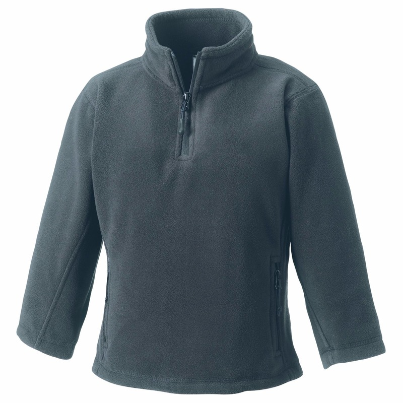 Grijze fleece trui voor meisjes