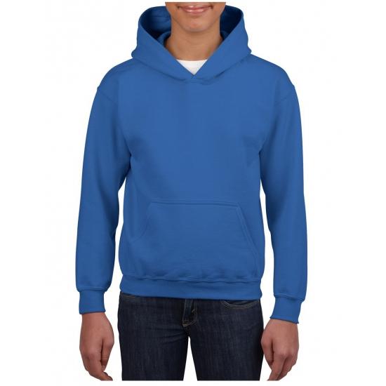 Kobalt blauwe capuchon sweater voor jongens