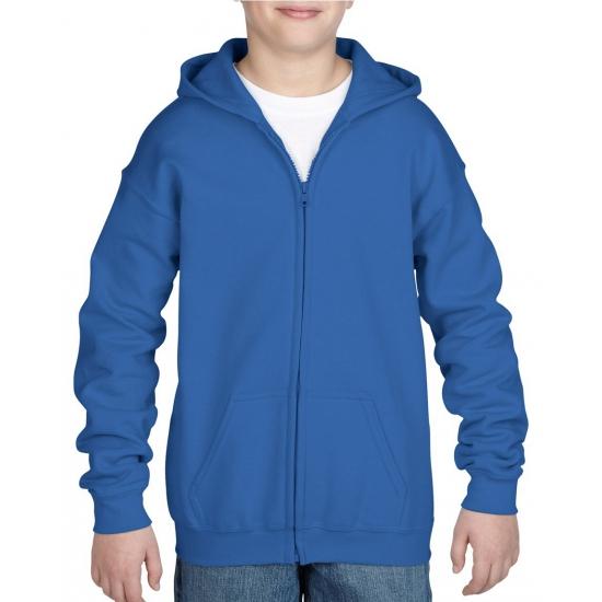 Kobalt blauwe capuchon vest voor jongens