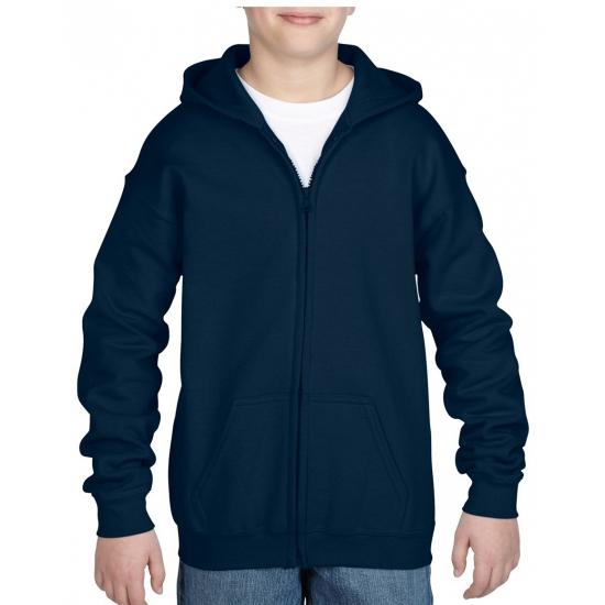 Navy capuchon vest voor jongens