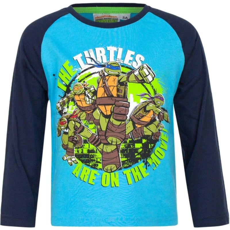 Ninja Turtles t shirt blauw voor jongens