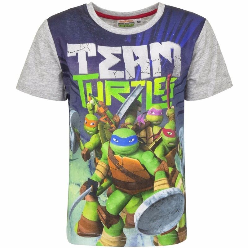 Ninja Turtles t shirt met grijze mouwtjes