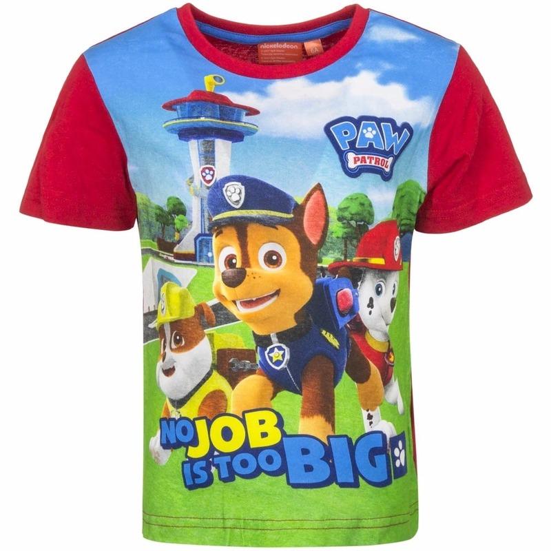 Paw Patrol t shirt rood voor jongens