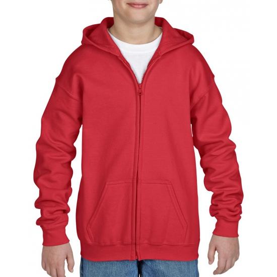 Rood capuchon vest voor jongens