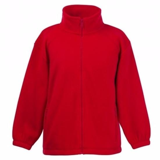 Rood fleece vest voor jongens