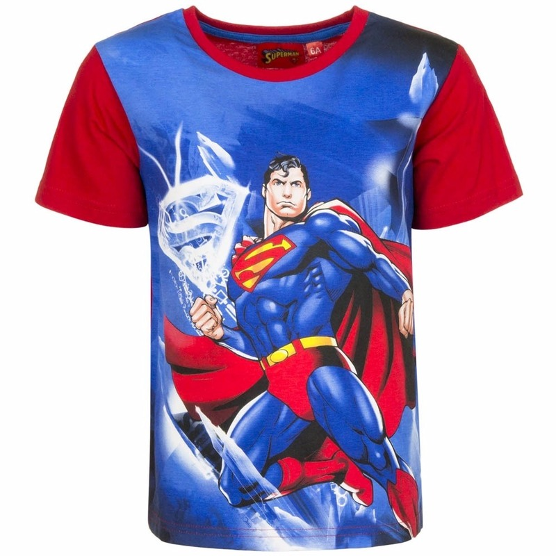 Superman T shirt rode mouw