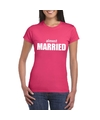 Almost married tekst t shirt roze dames