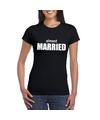 Almost married tekst t shirt zwart dames