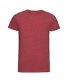 Basic ronde hals t shirt vintage washed rood voor heren