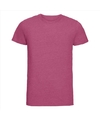 Basic ronde hals t shirt vintage washed roze voor heren