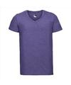 Basic v hals t shirt vintage washed paars voor heren