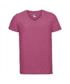 Basic v hals t shirt vintage washed roze voor heren