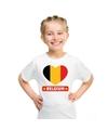 Belgie hart vlag t shirt wit jongens en meisjes