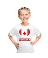 Canada hart vlag t shirt wit jongens en meisjes