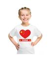 China hart vlag t shirt wit jongens en meisjes