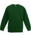 Donkergroene katoenmix sweater voor jongens