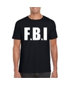 Fbi tekst t shirt zwart heren