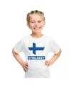 Finland hart vlag t shirt wit jongens en meisjes