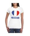 Frankrijk hart vlag t shirt wit dames