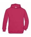 Fuchsia katoenmix sweater met capuchon voor meisjes