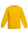 Gele katoenmix sweater voor jongens