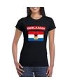 Geslaagd vlag t shirt zwart dames