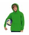 Groene katoenmix sweater met capuchon voor jongens