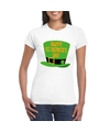 Happy st patricksday shirt t shirt wit dames