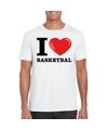 I love basketbal t shirt wit heren
