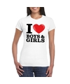 I love boys girls t shirt wit dames