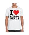 I love boys girls t shirt wit heren