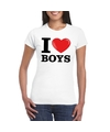 I love boys t shirt wit dames