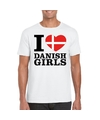 I love danish girls t shirt wit heren