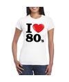 I love eighties t shirt wit dames
