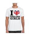 I love english girls t shirt wit heren