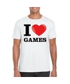 I love games t shirt wit heren