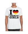 I love german girls t shirt wit heren