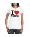 I love golfen t shirt wit dames