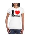 I love honkbal t shirt wit dames
