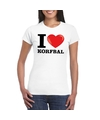 I love korfbal t shirt wit dames