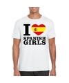 I love spanish girls t shirt wit heren