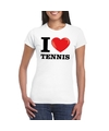 I love tennis t shirt wit dames