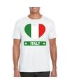 Italie hart vlag t shirt wit heren