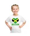 Jamaica hart vlag t shirt wit jongens en meisjes