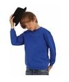 Kobaltblauwe katoenmix sweater voor jongens