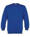 Kobaltblauwe katoenmix sweater voor meisjes