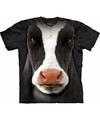 Koeien t shirt zwart wit voor volwassenen