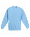 Lichtblauwe katoenmix sweater voor jongens