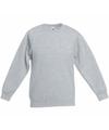Lichtgrijze katoenmix sweater voor jongens
